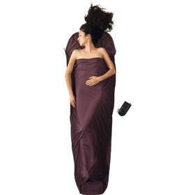 Cocoon MummyLiner Sacco lenzuolo Thermolite Performer, marrone/viola
